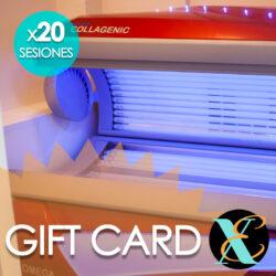 Gift Card Solárium con Colágeno o Solo Colágeno Pack 20 Sesiones