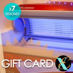 Gift Card Solárium con Colágeno o Solo Colágeno Pack 7 Sesiones